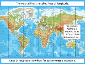 Identifying lines of latitude and longitude - presentation 3