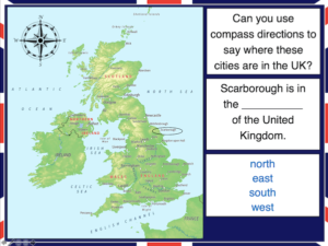 Locating UK cities using compass directions - cover image 1