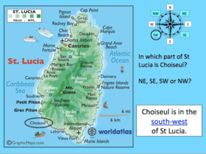 Using compass directions to locate places in St Lucia - cover image 1