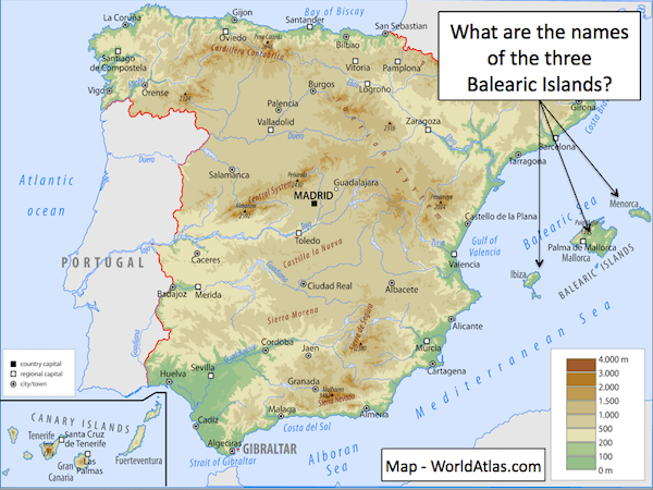 Identifying human & physical features of Spain - cover image - presentation2