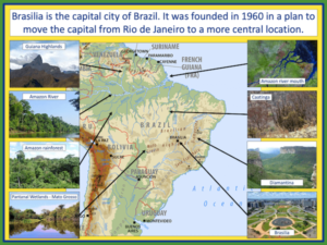 Identifying the human and physical features of Brazil - presentation 3