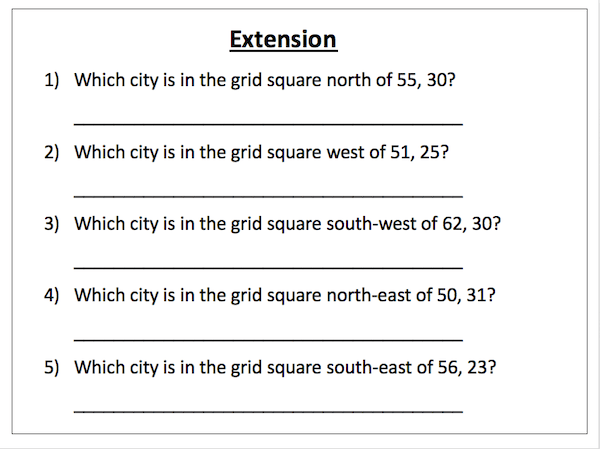 Using 4-figure grid references - cover image - extension