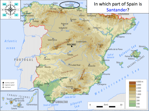 Using 8 points of a compass to locate places in Spain - cover image1