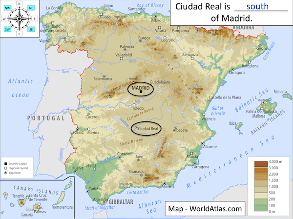 Using 8 points of a compass to locate places in Spain - cover image3